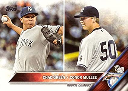 2016 Topps Update Us3 Chad Green And Conor Mullee Rookie Combos Baseball Card