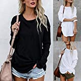 Akwell Plus Size Women's Long Sleeve Solid Chic Blouse...