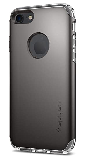 the latest 5cf69 5f597 Spigen Hybrid Armor Designed for Apple iPhone 7 Case (2016) / Designed for  iPhone 8 Case (2017) - Gunmetal