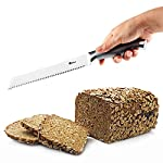 Orblue Serrated Bread Knife Ultra-Sharp Stainless Steel Professional Grade Bread Cutter - Cuts Thick Loaves Effortlessly - Ideal for Slicing Bread, Bagels, Cake (8-Inch Blade with 4.9-Inch Handle) 8 For HUGE Discounts See Special Offers Above