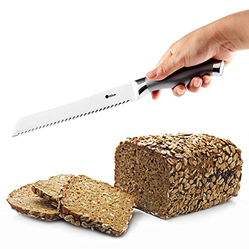 ORBLUE Serrated Bread Knife, Ultra-Sharp Stainless Steel Bread Cutter by Orblue (Image #1)