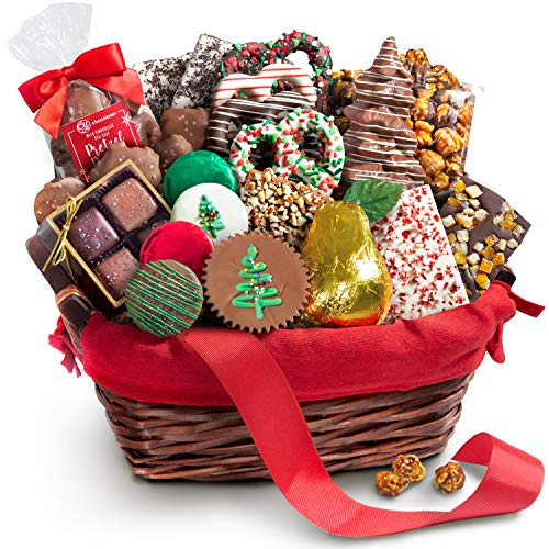 Handmade Christmas Chocolate Bliss Assortment Gift Basket (White Christmas Chocolate Treats)