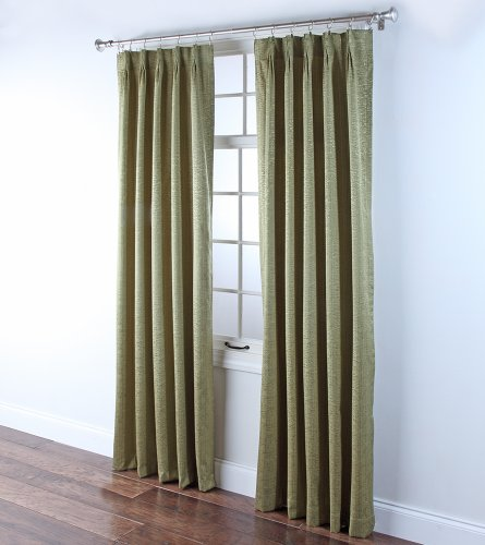 Back Drape Foam - Stylemaster Home Products Renaissance Home Fashion Portland Pinch Pleated Foam Back Drape Pair, 2 by 24 by 84-Inch, Sage