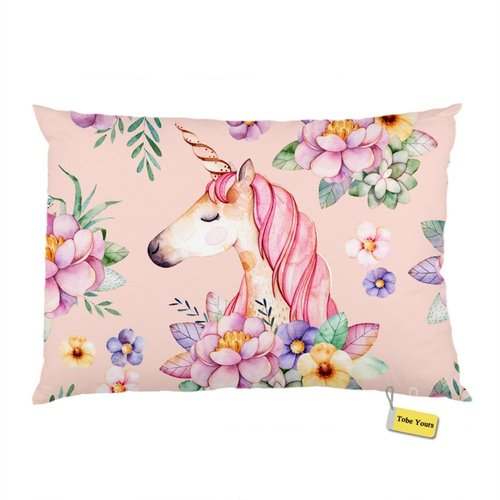Tobe Yours Unicorn Princess Sweet Dream Custom Bedroom Standard Queen Size Printed Rectangle Pillowcase Pillowslip Pillow Case Cover 20x30 inch
