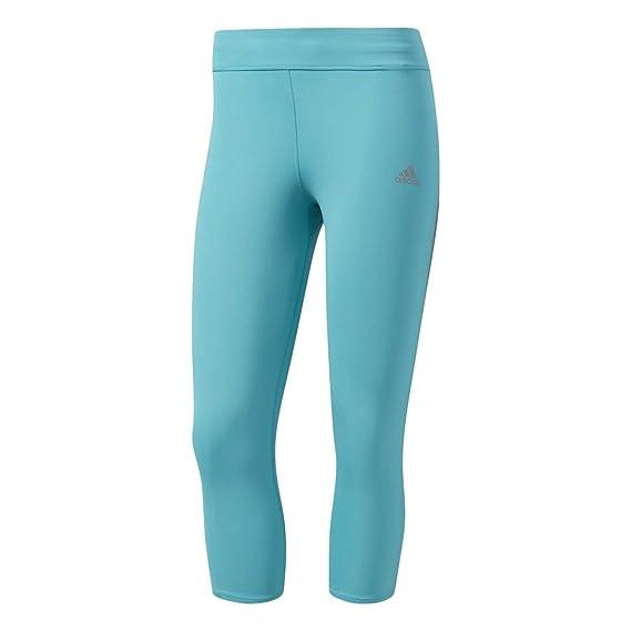 801e3dbf365 adidas Womens Response 3 Quarter Running Tights in Black/Clear Aqua: adidas:  Amazon.co.uk: Clothing