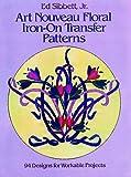 Art Noveau Floral Iron-On Transfer, Ed Sibbett, 0486246418