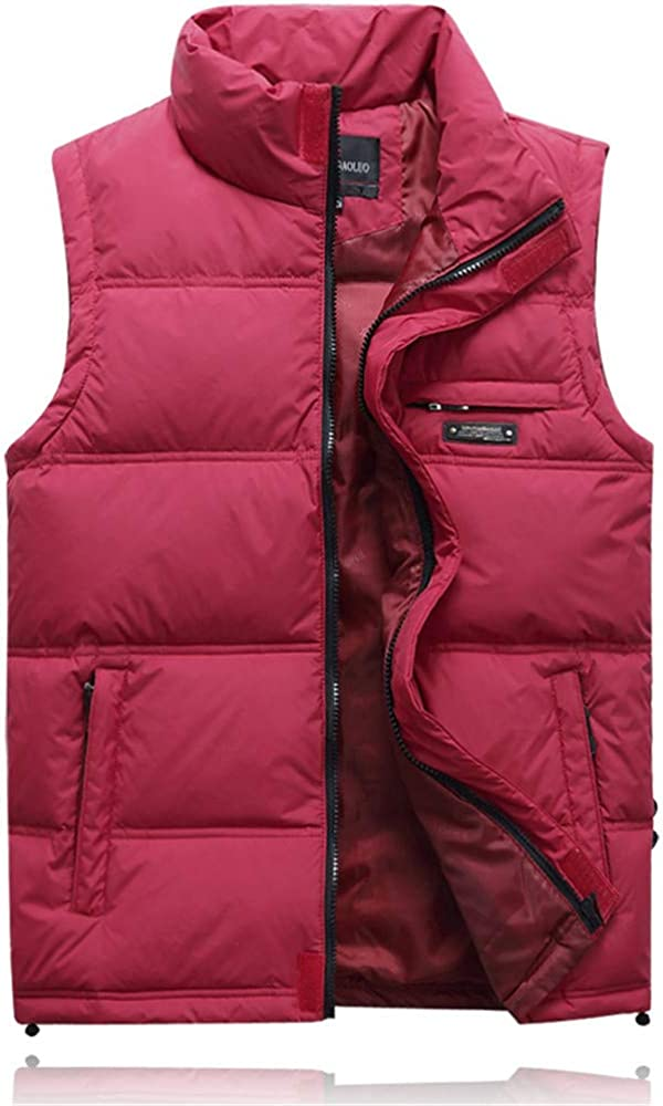 Winter Duck Down Vest for Men Parka Thick Warm Varsity Sleeveless Jacket