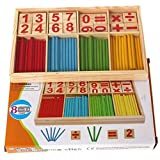 GUAngqi Kids Child Wooden Numbers Mathematics Early Learning Counting Educational Toy