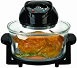 Big Boss Rapid Wave Halogen Infrared Convection Countertop Oven - 16 Quart with Extender Ring Glass Bowl