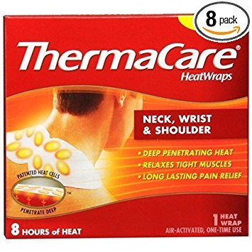ThermaCare Neck Shoulder and Wrist Heatwrap - 3 count - Pack of 8
