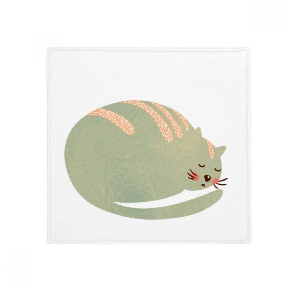 DIYthinker Sleepy Cat Animal Pet Watercolor Anti -slip Floor Pet Mat Square Home Kitchen porta 80Cm Gift