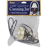 Darice Canning Jar Lamp Adapter, Zinc/Small Mouth/Brown Cord