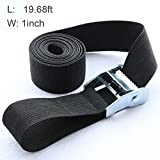 Tie Down Straps Ratchet Black 20ft Lashing Strap for Motorcycle Car Truck Cargo (19.68ft)