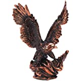 Gifts & Decor Majestic Eagle in Flight Bird Statue Figure Home Decor