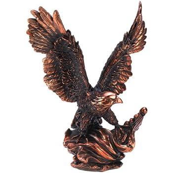Gifts Decor Majestic Eagle In Flight Bird Statue Figure Home Decor