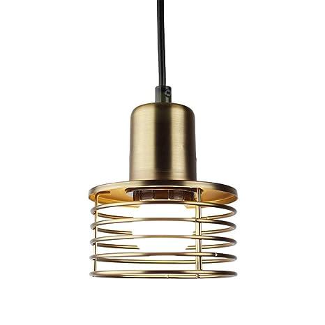 YWMSJD Lámpara Colgante Vintage Lámpara Colgante Industrial de Oro ...