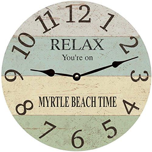 Time Flies Clock Wall - Personalized Coastal Clock