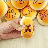 JETTINGBUY Squishy Bun Emoji Bread Charm Strap