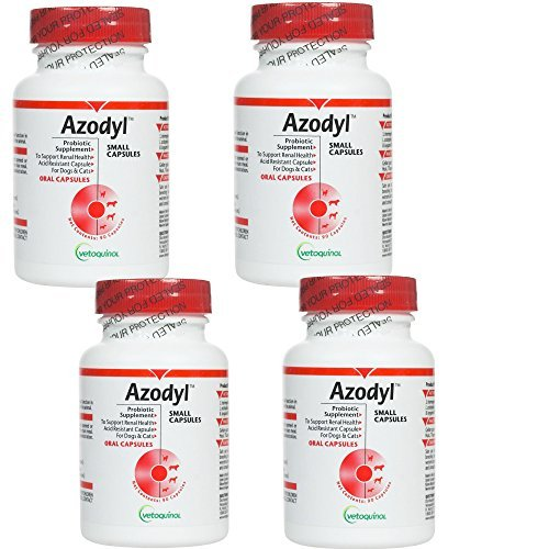 Azodyl 4PACK (360 Small Capsules) By Vetoquinol by Azodyl