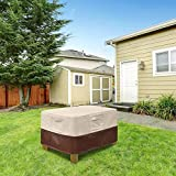 Vailge Patio Ottoman Cover, Waterproof Outdoor
