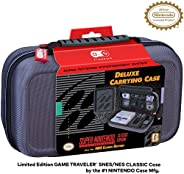 Officially Licensed Nintendo Super Nintendo Entertainment System Carrying Case – Protective Deluxe Travel Syst