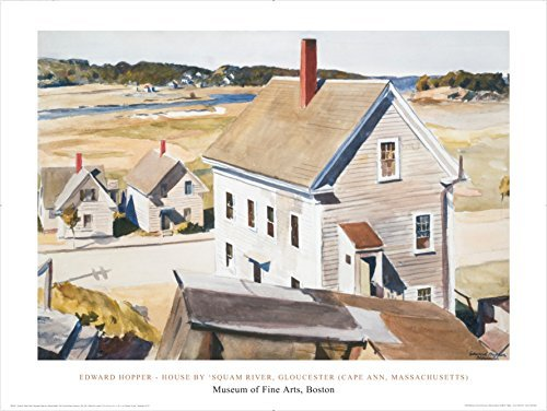 House By 'Squam River, Gloucester (Cape Ann, Massachusetts), 1926 by Edward Hopper 24x31 Art Print Poster Famous Painting Coastal Houses Beach Town (Hopper Edward Cape)