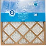 20x20x1, True Blue Air Filter, MERV 7, by Protect Plus Industries