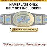 Personalized Nameplate for Adult WWE Intercontinental Championship Replica Belt