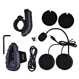 Zyurong 1200M BT Bluetooth Interphone BTI Wireless Multi Bluetooth Intercom Motorcycle Motorbike Helmet Headset (up to 5 Riders 150H Standby time)