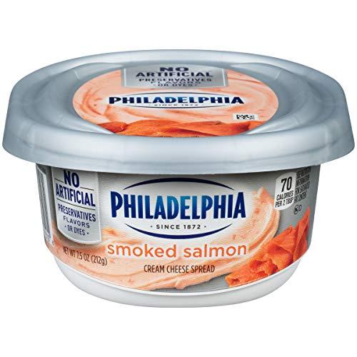 Philadelphia Smoked Salmon Cream Cheese Spread, 7.5 oz Tub