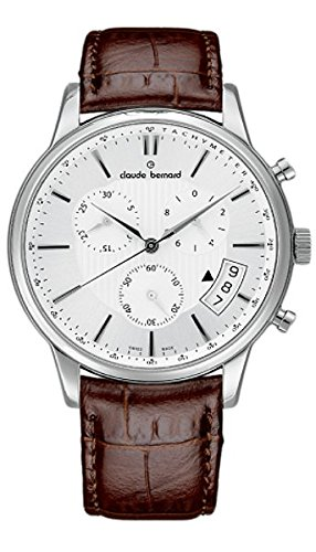 Claude Bernard Men's 01002 3 AIN Classic Chronograph Analog Display Swiss Quartz Brown Watch