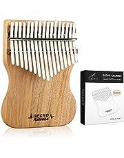 GECKO Kalimba 17 nycklar fullfaner Camphor trä, med instruktion och stämhammare, bärbar tumme piano Mbira Sanza K17CAP