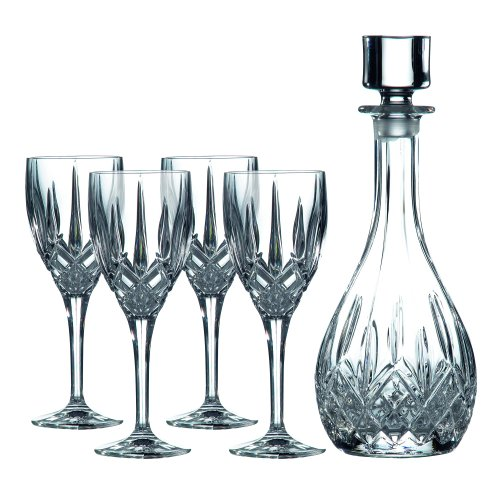 (Royal Doulton Decanter Sets Wine Decanter with Wine (Set of 4), Clear)