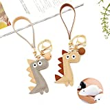 Best Chain With Gift Bags - Cute Dinosaur PU leather Key Ring Chain Handbag Review