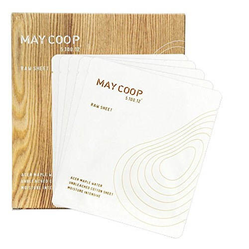 May Coop Raw Sheet (6ea in 1 box) - unbleached cotton sheet with acer maple water (0.88 oz)