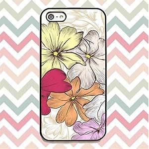 Designer Style Iphone 5/5s Floral Vintage Rose Blossom Flowers Print Carcasa Case/Cover