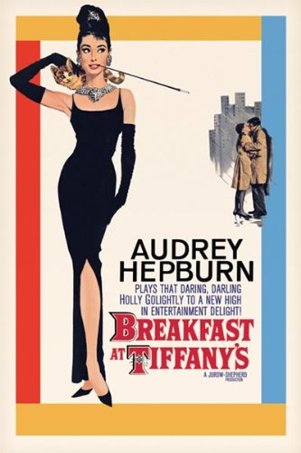 Image result for breakfast at tiffany's movie poster