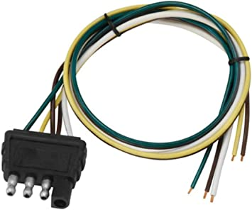 flat four trailer wiring diagram amazon com cequent 707286 4 way flat trailer end wire harness  cequent 707286 4 way flat trailer end
