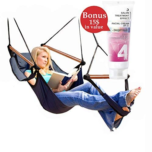 Emo Girl Facial (Relax And Enjoy Yourself In Camping Hammock Chair Swing Recliner Portable Chill Pill Flying Cradle Napping Lounger Rocker Sturdy Chaise Lounge For Patio Balcony Backyard + European Sun Cream +)