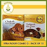 K-Pra Flour Combo D (Contains 10 Pkts) Chakali Bhajani - 5 Pkts & Thalipeeth Bhajani - 5 Pkts (Each Pkt 500g) T-L