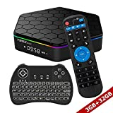 WISEWO Android TV BOX Smart Mini PC Media Box Amlogic S912 Octa Core UHD 4K2K/3D/ 3G/32G Set Top Box Media Player with Wireless Keyboard Backlight