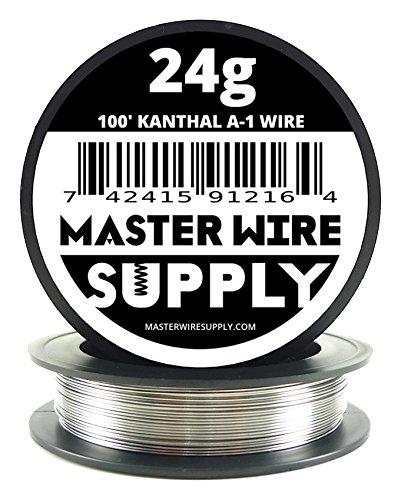 Kanthal A1 - 100' - 24 Gauge Resistance Wire (Best Vape Wire Brand)