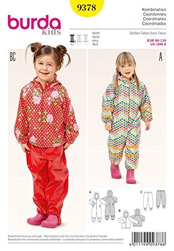Burda Girls Easy Sewing Pattern 9378 Onesie, Hoodie & Tracking ...