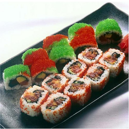 Flying Fish Roe Sampler 20 oz - Tobiko Caviar Wasabi, Red, Orange, Black & Golden - 4 oz each Sushi Grade