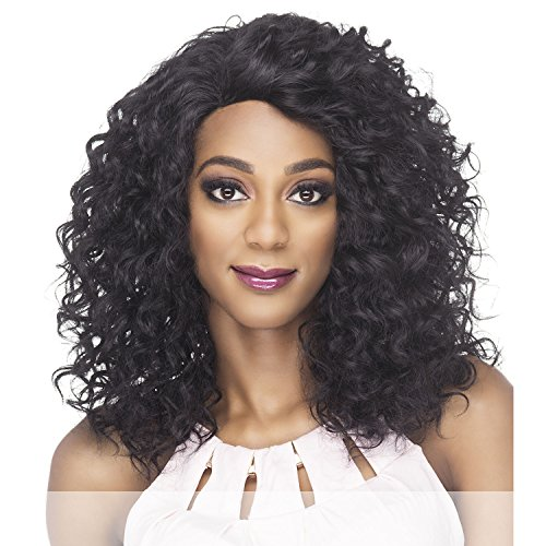 Amore Mio (Al-chance) - Heat Resistant Fiber Swiss Lace Front Wig in OFF BLACK ()