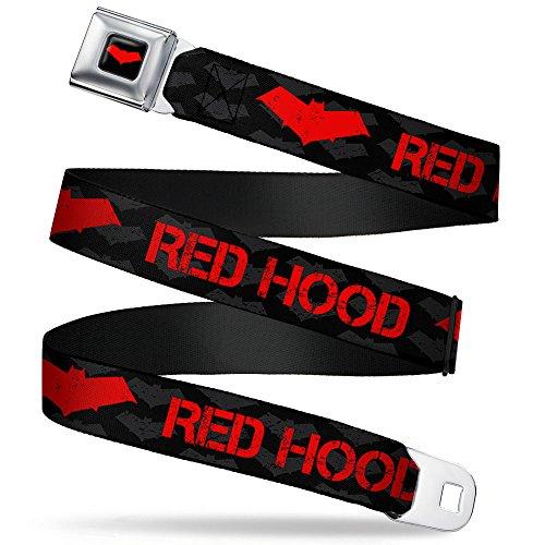 Red Hood/logo Weathered Black/gray/red Seatbelt Belt