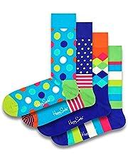 Happy Socks Kleurrijke en leuke Stripe Gift Boxes voor mannen en vrouwen Premium katoenen sokken 4 paar maat