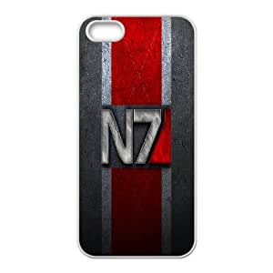 IPhone 5,5S Phone Case for Classic theme Mass Effect N7 Logo pattern design GCTMSEFNL790433