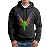 Mary J.Taylor Men's Logan Printed Funny Parrot Paul Loose Hoodie