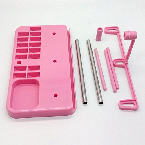 Amazon.com: HONEYSEW Embroidery Thread Spool Holder Stand Sewing Machine Accessories three spool thread stand White Blue Pink three color for choose (pink)